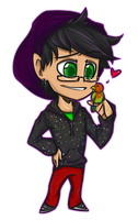 Chibi Issac and Sweetie by ElectricEidolon