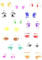 Manga Eyes by girlinthehoodie