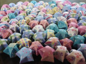 Tea Time Paper Stars by GiftedChild777