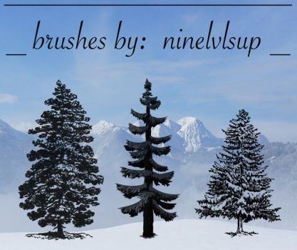 Pine Tree Brushes by ninelvlsup
