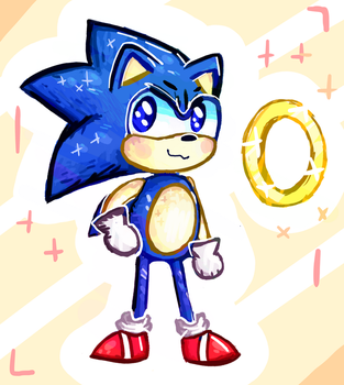 Sanic the Hegehog by Ping-Ether