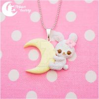 Dream fantasy bunny Necklace by CuteMoonbunny