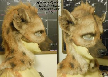 Hyena/ Gnoll LARP Mask by Magpieb0nes