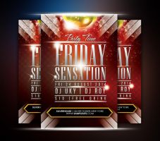 Friday Sensation Party Flyer by afizs