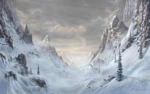 winter in the mountains by Fel-X