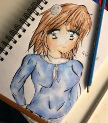 Simple blue girl by Emily9915