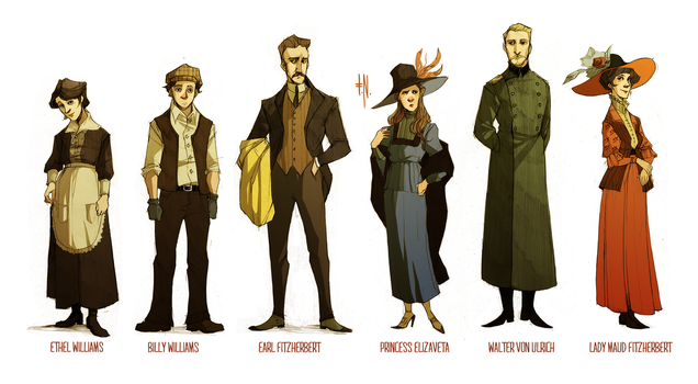 Fall Of Giants characters by Spaska