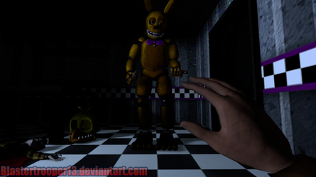 [FNaF SFM Poster] A Wolf In Sheep's Clothing by Blaster1360