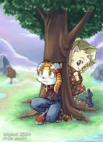 Under the tree by aun61