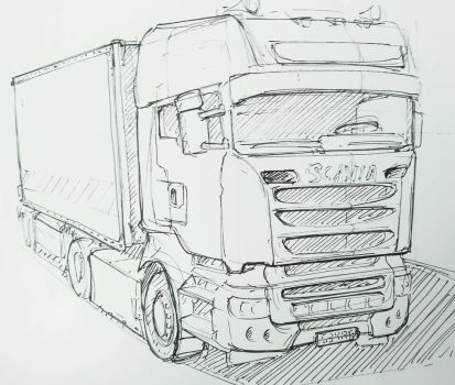 Vehicle practice Scania by David5154