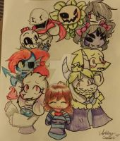 Undertale  by cutelittlepikakitty