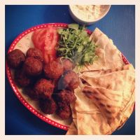 Homemade Falafel and Hummus by piratesofbrooklyn