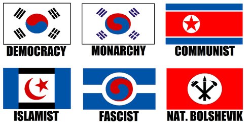 Alternate Flags of Korea by wolfmoon25