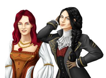 (Commission) Two ladies by Gabriele-B