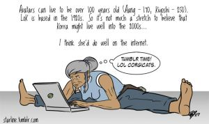 100 year old Korra by starlinehodge