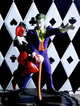 The Joker and Harley Quinn HeroClix by Morbid-Perhaps