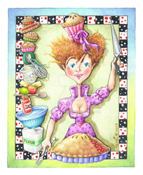 The QUEEN OF HEARTS COOKS: Queen of TARTS by popartdiva