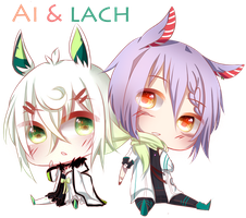 Ai and Lach Cheebs by Hisekii