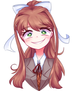Just Monika by LittleCloudie