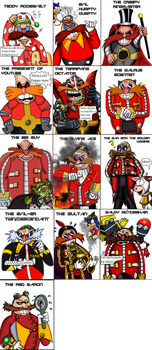 Doctor Robotnik/Eggman throughout the ages. by Luke-the-F0x