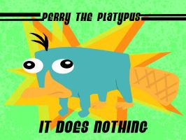 Perry the platypus by Bahamut-Eternal