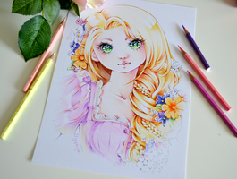 Rapunzel by Lighane