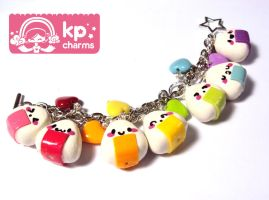 rainbow onigiri bracelet by KPcharms
