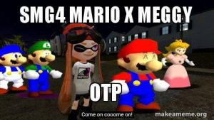 SMG4: Stupid Mario X Meggy by AwesomeIsaiah