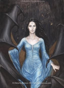 Luthien before Morgoth by EKukanova