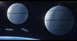 Death Stars Alpha and Omega by Shoguneagle