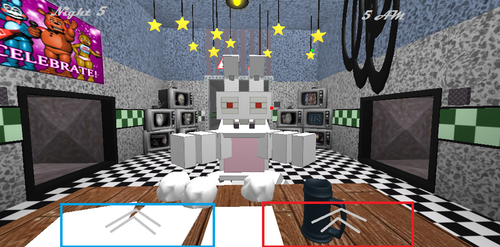 Rabbid that scares bad users in fnaf 2 by Richkirby9000