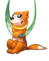 Day #14 Buizel with net by Bestary