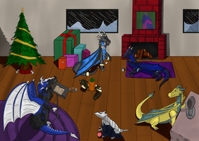 Watcher Christmas Photo by Dragonhawk2112