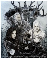 Witcher - Wild hunt Finished by Hollow-Moon-Art