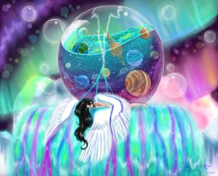 Drowning In the Weight of My Universe by CelestialRainfall
