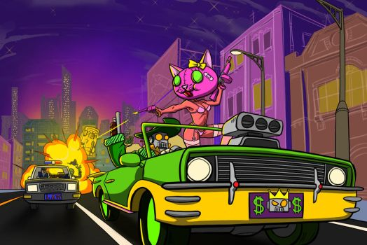 PIMP BOT and Murder Cat by ab7772