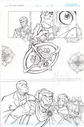 The Fifth Elephant page ii pencils by Murielle