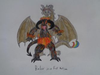 Balor in a Full Nelson by woodywoodwood