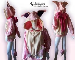 Skitty inspired hoodie by BlakBunni