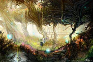 Forest of Light by Elentori