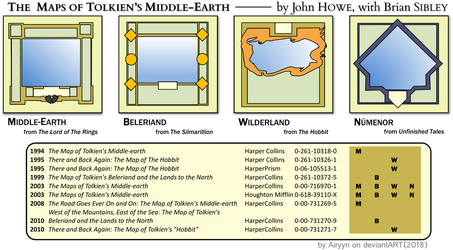Maps of Tolkien's Middle-Earth by John Howe by Airyyn