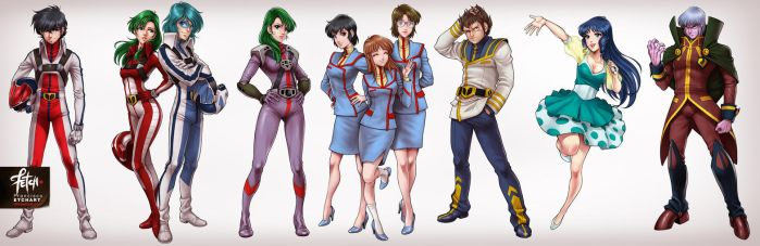 Robotech_characters set2 by FranciscoETCHART
