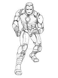 Classic Iron Man (Lines) by Jun89