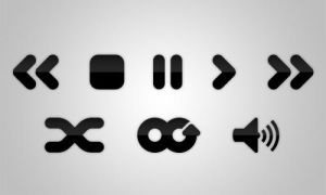 Media player buttons by transitio