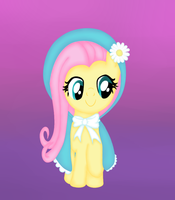 Fluttershy has a cute cape by chaoticxxxmess