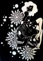 Skulls and Petals by ArtofBreanna