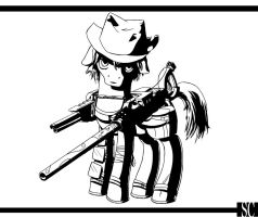 Calamity in Black and White by SpyroConspirator