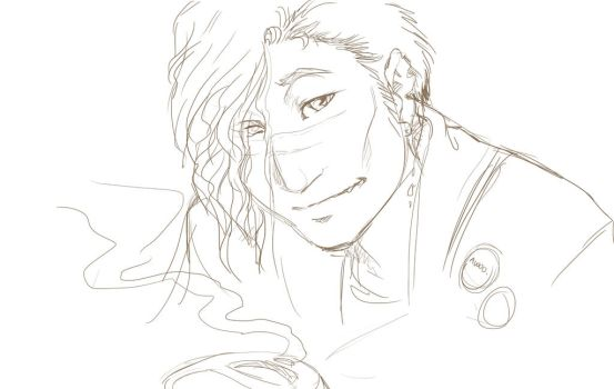 Issac Sketch by xaotl