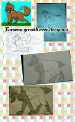 Fursona growth over the years  by Spirit-The-Artist