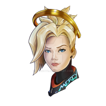 mercy in overwatch by DiWighte